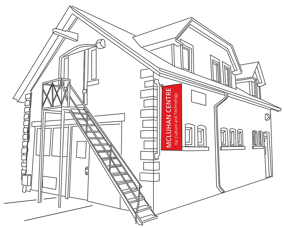 Line drawing of the McLuhan Centre