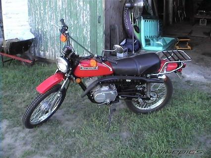 Kawasaki KE100 1980'model