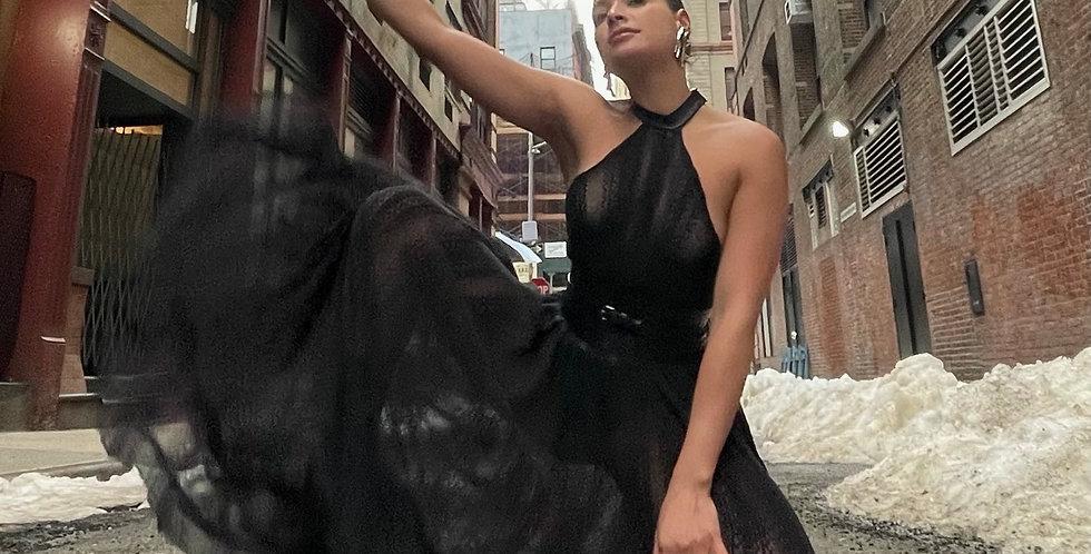 Tina halter maxi dress