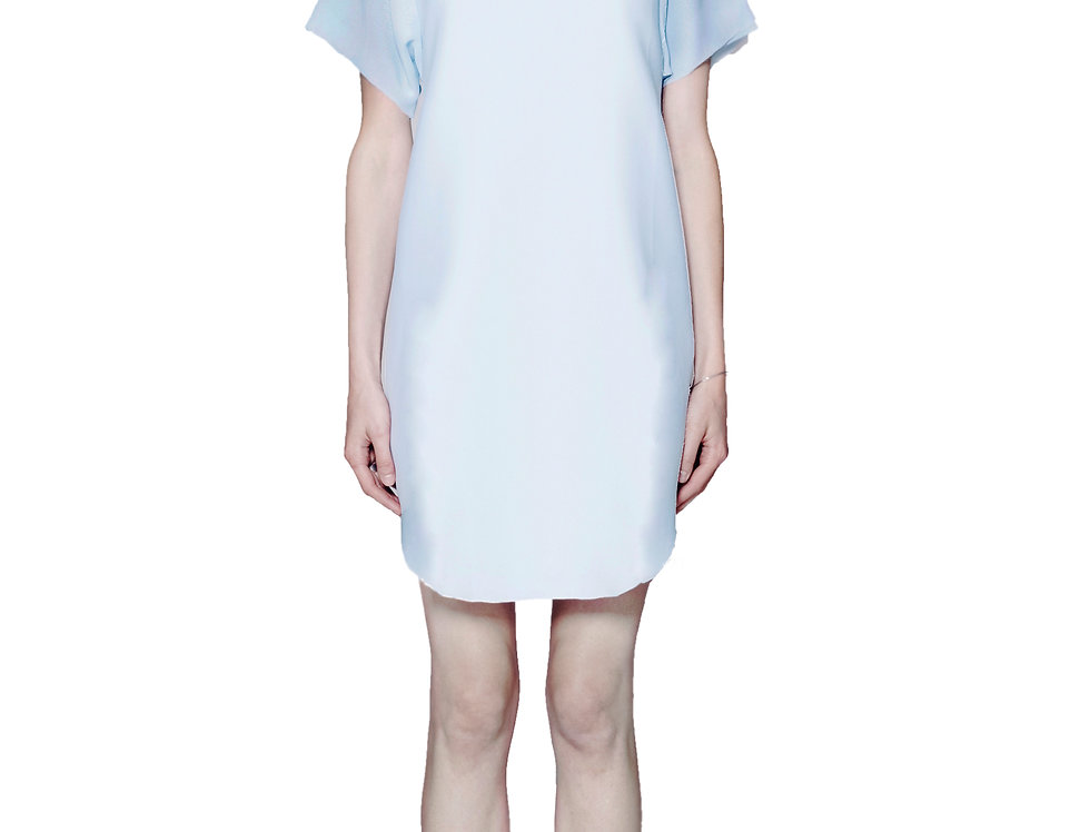 T-SHIRT DRESS W/ CHIFFON SLEEVES