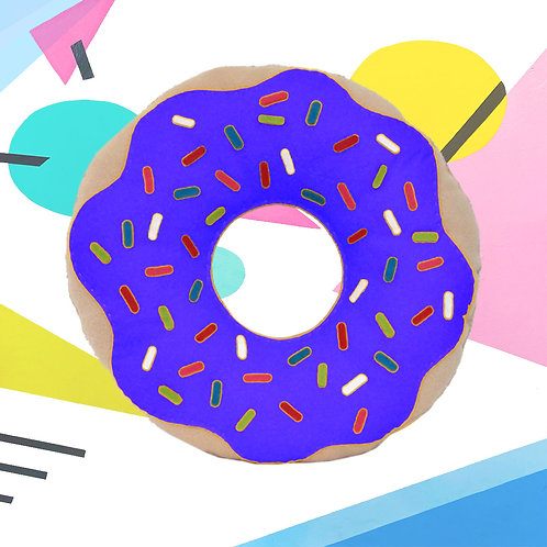 BLUE DONUT PILLOW