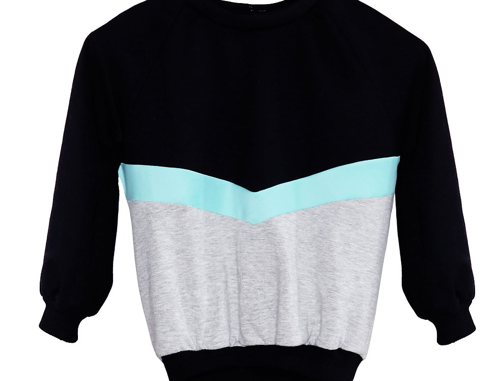 MINI EVA TRI-COLOR OVERSIZED PULL OVER
