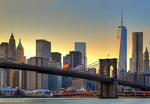 148 Brooklyn Bridge At Sunset
