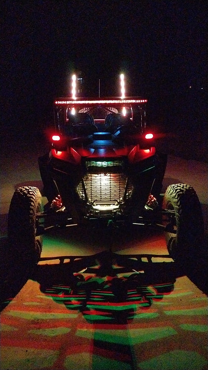 8 - Pod Bluetooth & remote rock light kit with brake and turn signal function