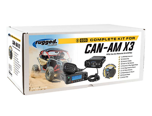 Can-Am X3 Complete UTV Communication System with Dash Mount
