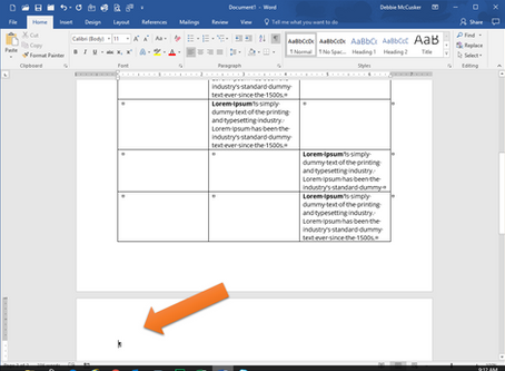 Word Tables Tip: Delete the Blank Page After Table
