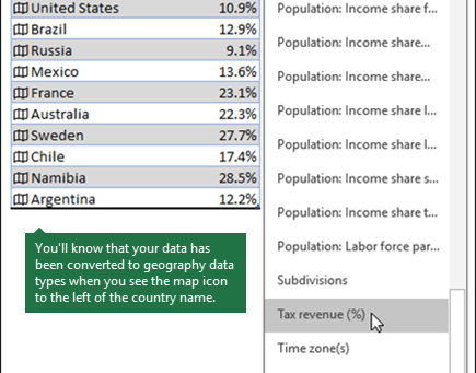 Use Excel to Create a Map Chart