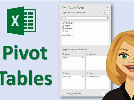 Excel Data Analysis - Pivot Tables