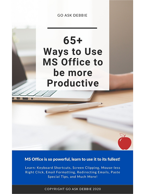 65 Ways to Use MS Office to Be More Productive