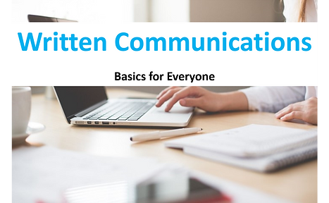 Written Communications Course Image GAD