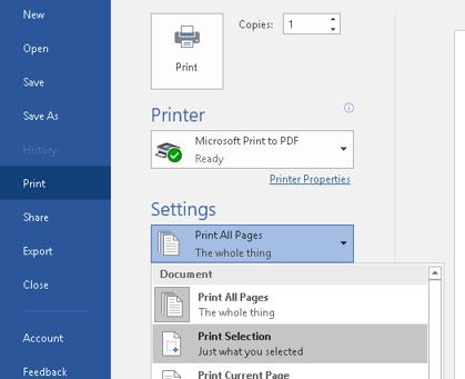 Outlook Printing Tip