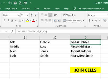 How to Join Cells using Excel Concatenate