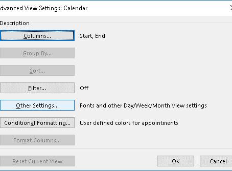 Outlook Calendar Tip