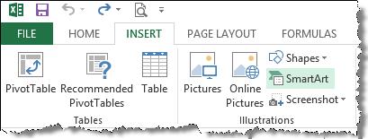 Excel Smart Art Tutorial