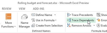 Excel Tutorials: Trace Dependents