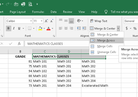 Excel 2007 Tip: Merge & Center