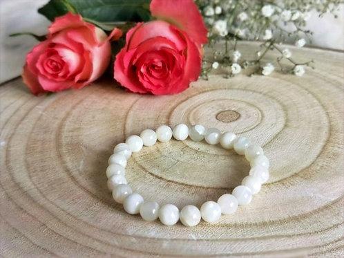 Bracelet - Pierre de lune blanche