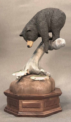 Black Bear and Trout by Gene Graham