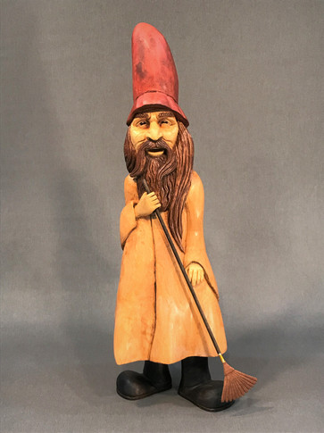 Garden Gnome with Rake by Lewis Waynick