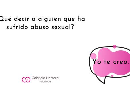 ¿Qué decir a alguien que ha sufrido de abuso y decide hablarlo? | Blog