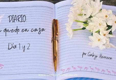 Diario me quedo en casa | Días 1 y 2
