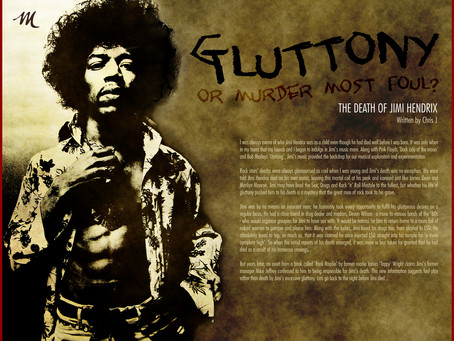 Gluttony or Murder Most Foul – The Death of Jimi Hendrix