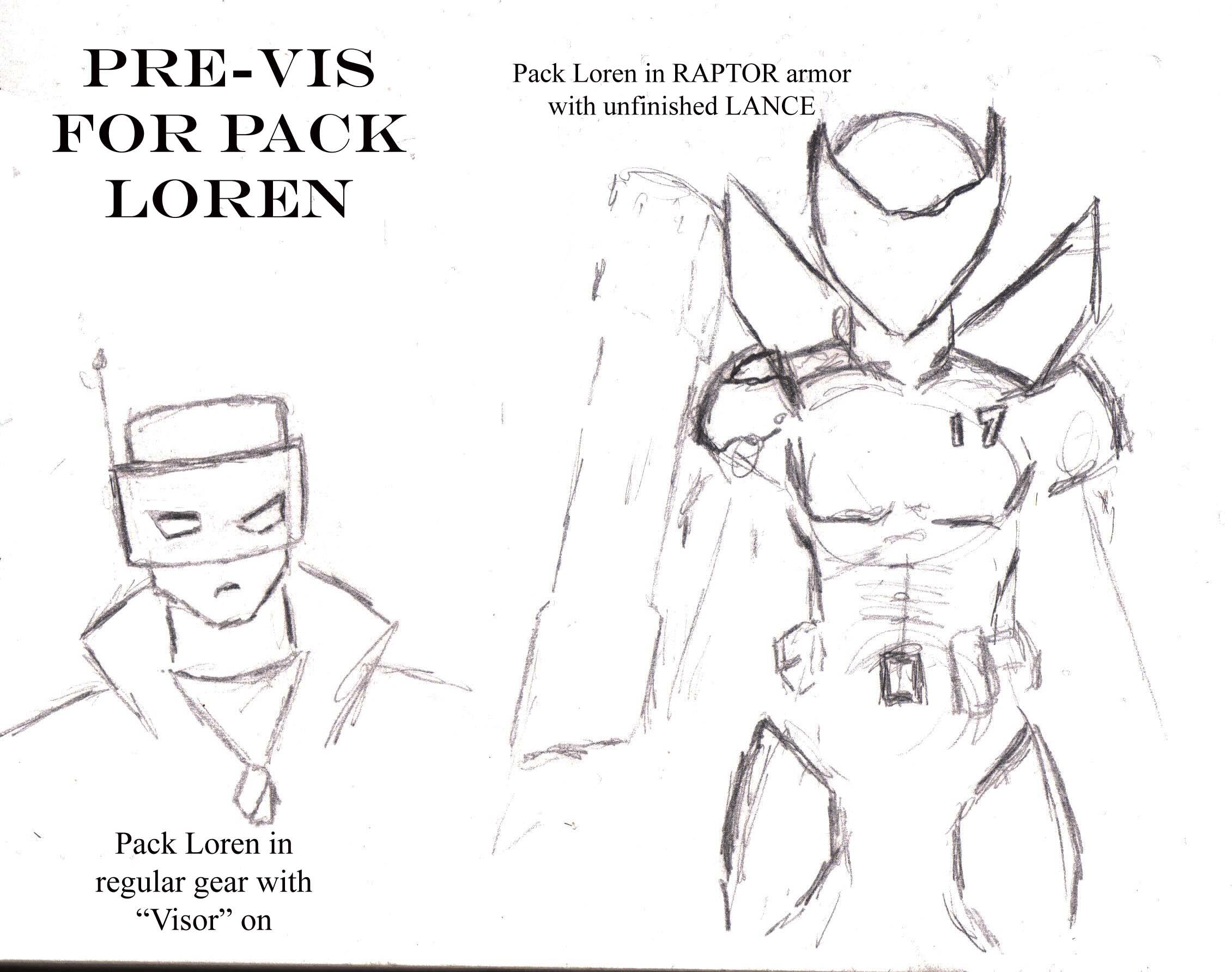 Pack Loren character dev