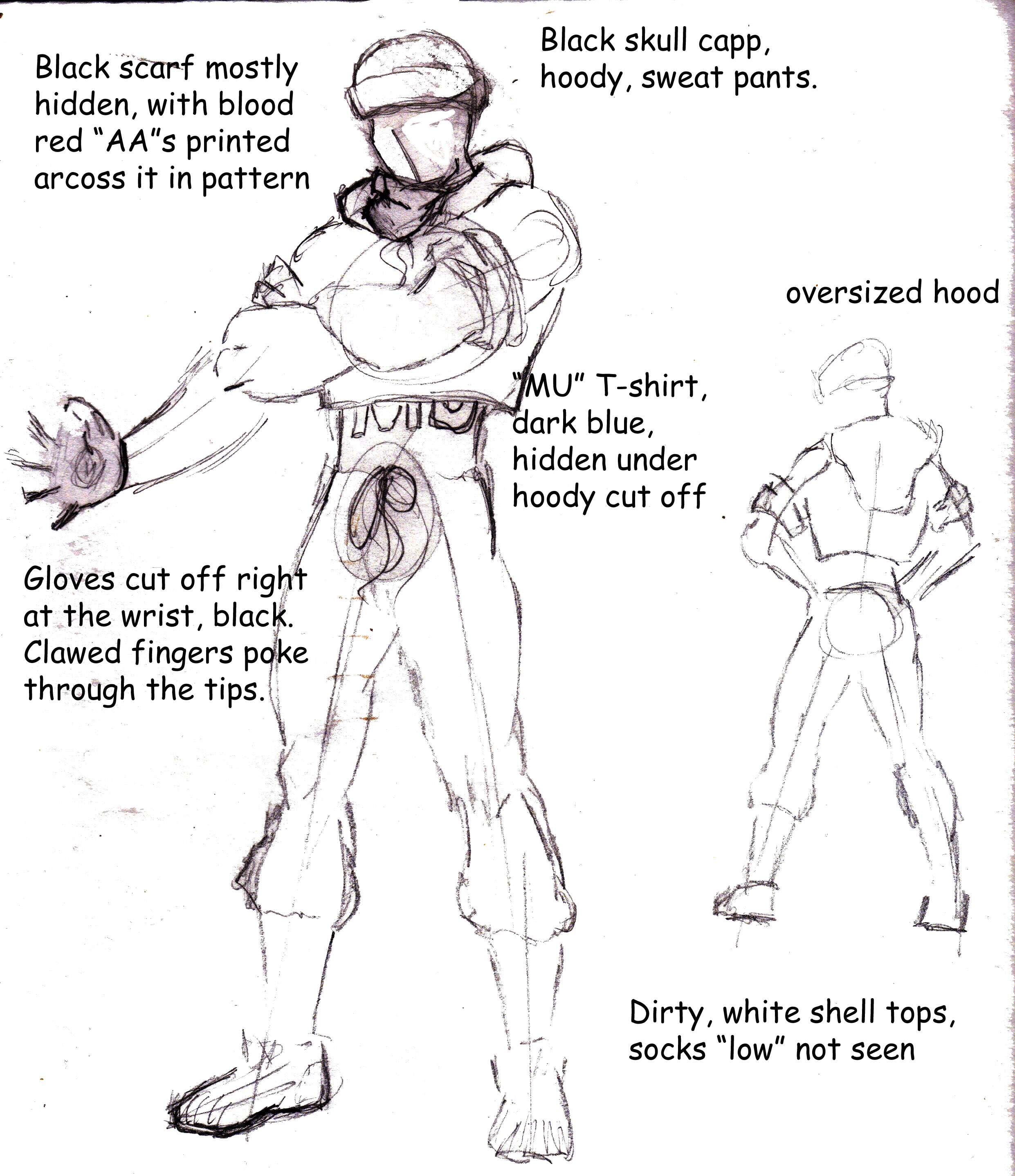Max in costume layout