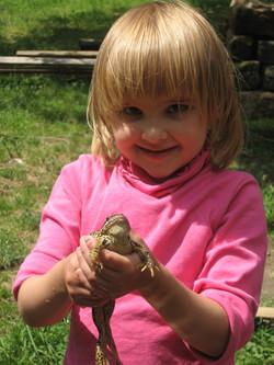 Prinzessin küsst Frosch