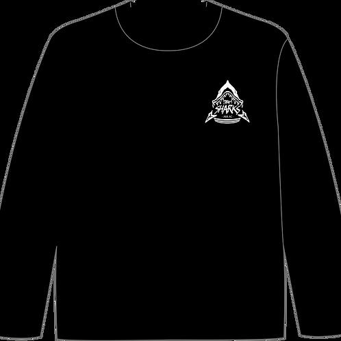 TEAM SHARKS ロゴプリント練習用ロングスリーブシャツ