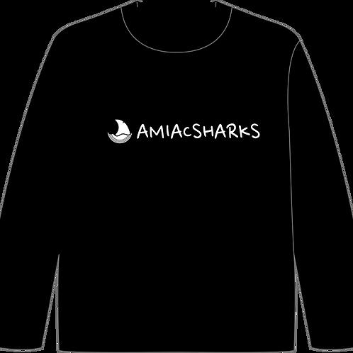 AMIAC SHARKSアイコンロゴプリント ロングスリーブシャツ