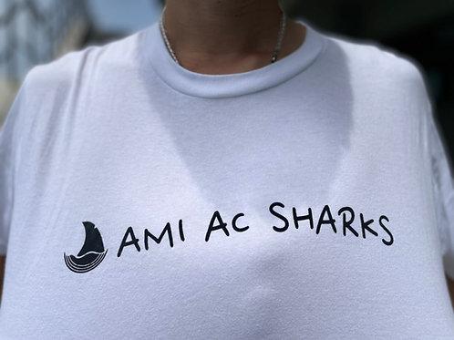 AMIAC SHARKSアイコンロゴプリント 半袖Tシャツ