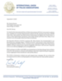 President Sam Cabral's Letter to Mr. Dew