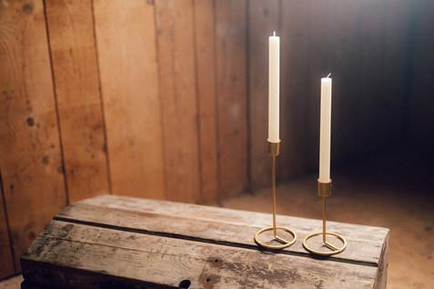 Kerzenständer Gold