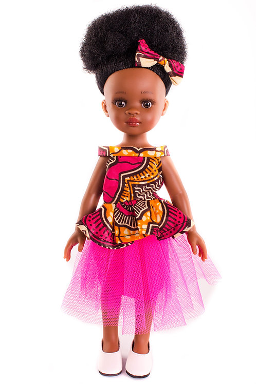 Summer - Cocoa Butter Scented Afro Hair Black Doll
