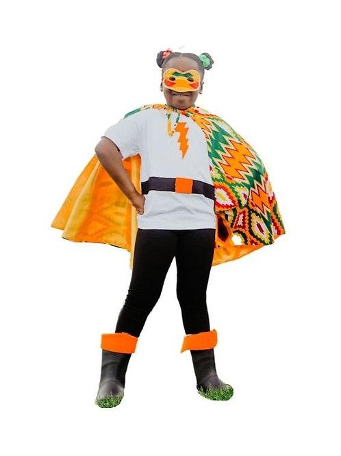 Orange Super Hero Cape