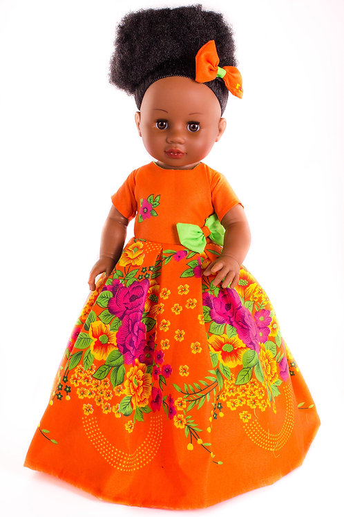 Surayah - Cocoa Butter Scented Afro Hair Black Doll