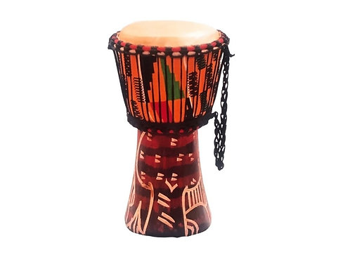 Djembe Drum (with Kente Cloth)