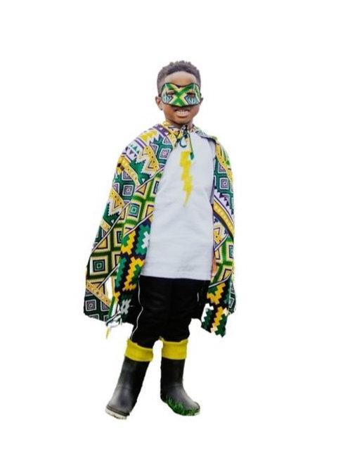 Yellow & Green Super Hero Cape