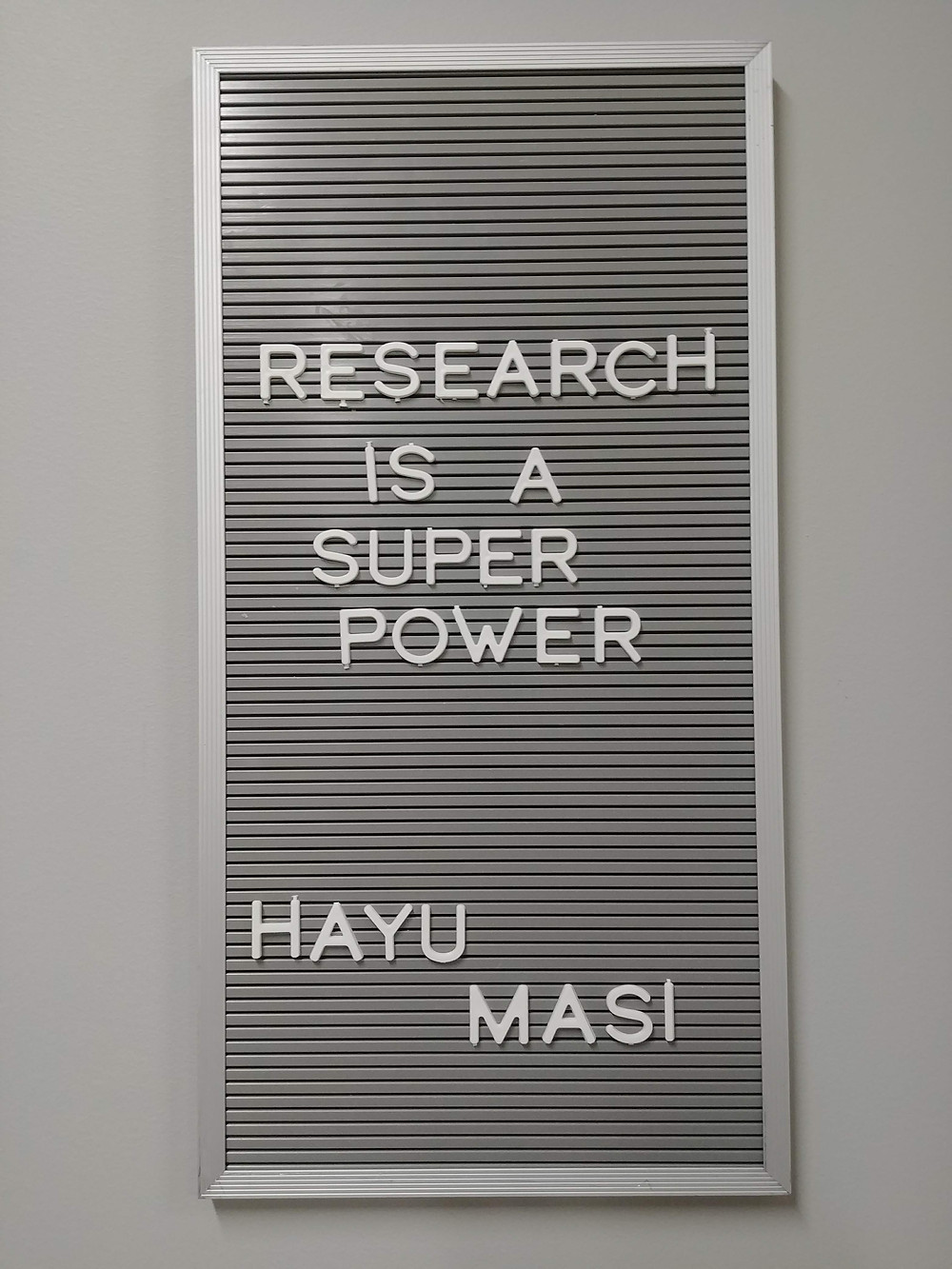 """Research is a Super Power Hayu Masi"" Photo from Chachalu Museum & Cultural Center, Confederated Tribes of Grand Ronde"