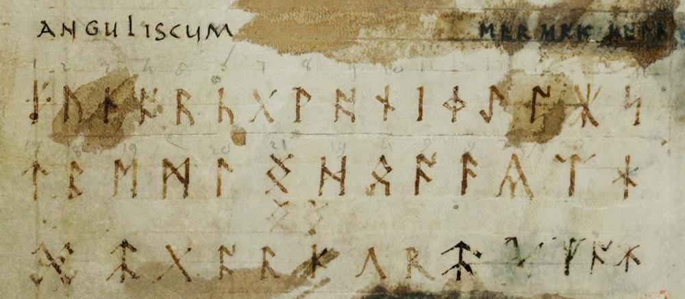 The Anglo-Saxon futhorc (abecedarium anguliscum) as presented in Codex Sangallensis 878 (9th century)