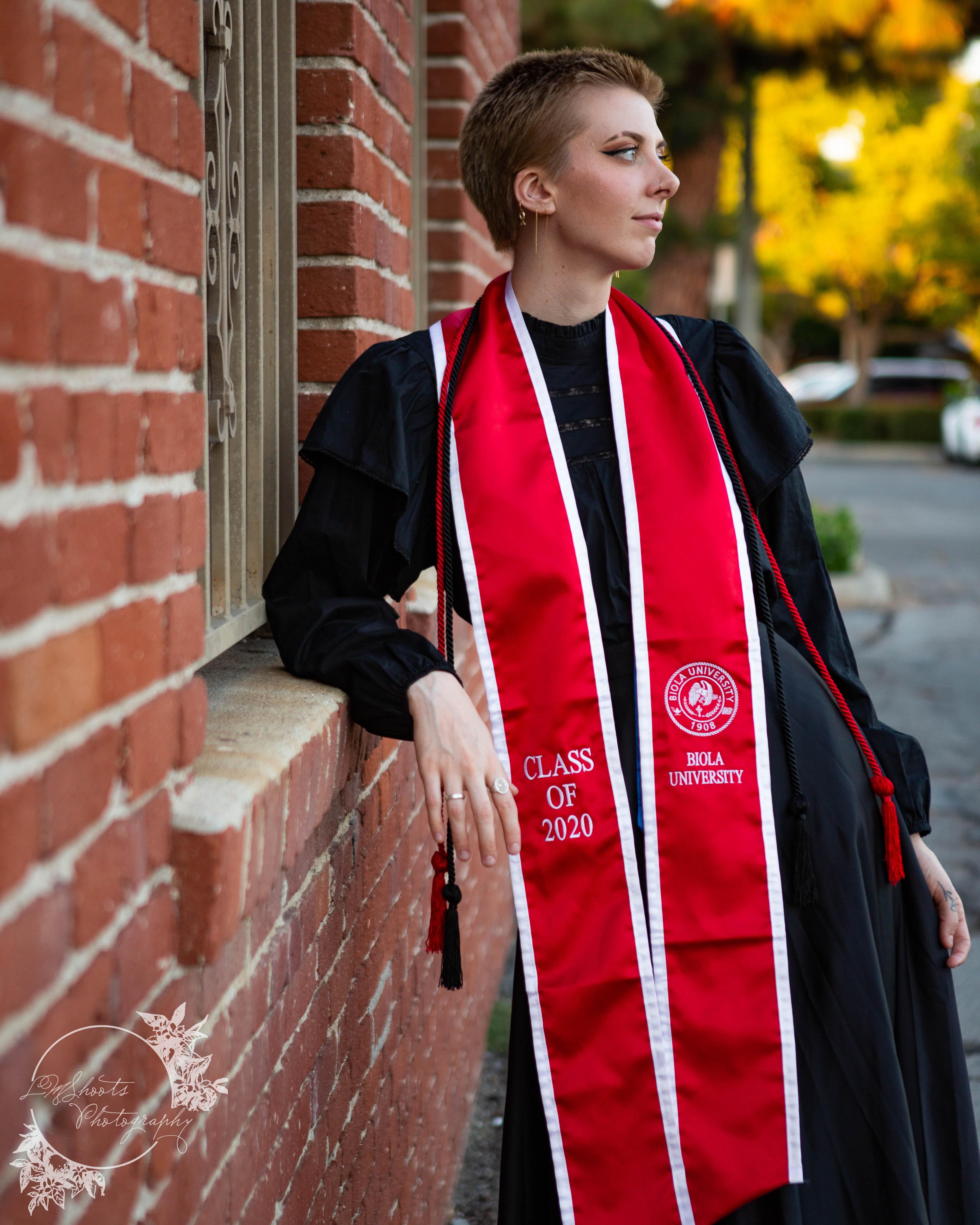senior in red sash