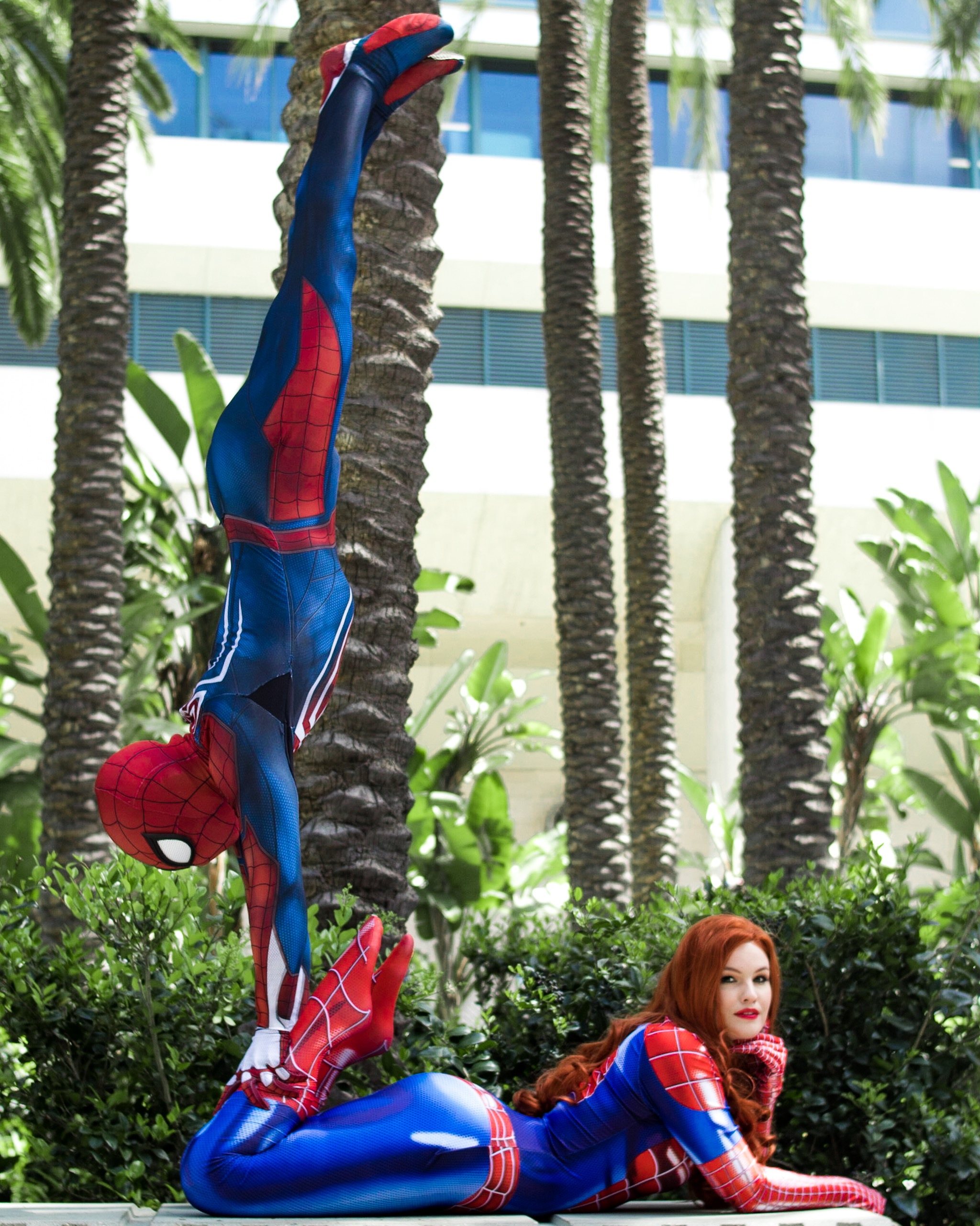Spiderman handstand on Mary Jane