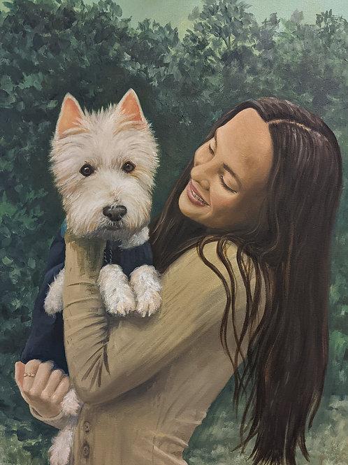 DOUBLE Portrait, 2 occupants on ONE canvas