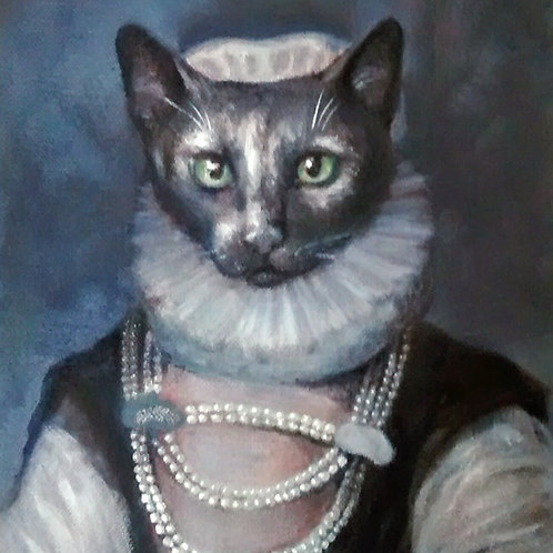 "Costume Pet Portrait, 9""x12"""