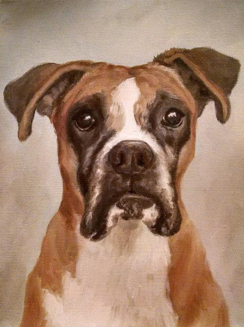 """4""""x4"""" Mini Pet Portrait on Thick Canvas"""