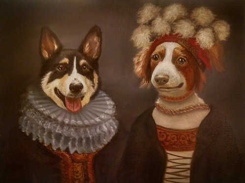 "16"" x 20"" DOUBLE Costume Pet Portrait"
