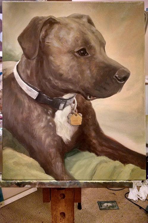 Large Hand Painted Pet Portrait
