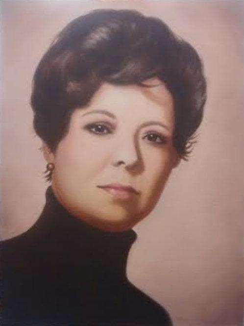 Medium Oil Portrait, hand painted custom portrait
