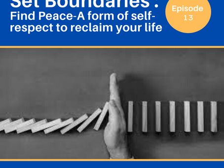 Set Boundaries, Find Peace: A form of self-respect to reclaim your life